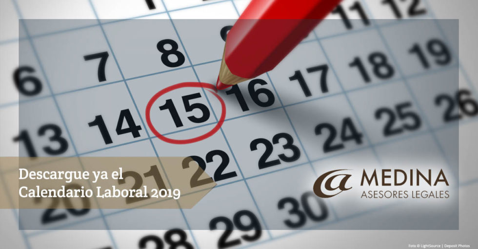 Descargar modelo de Calendario laboral 2019